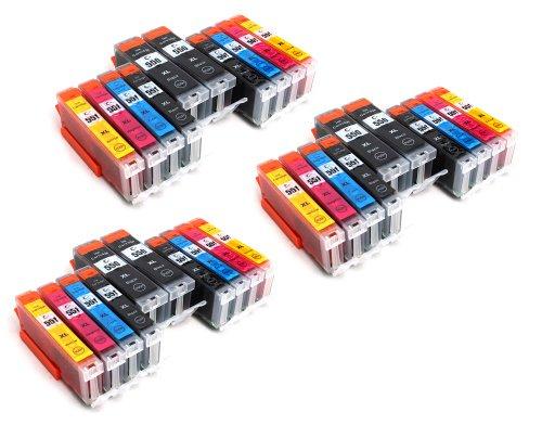Preisvergleich Produktbild 30 Multipack komp. XL Druckerpatronen für Canon Pixma MG7550 MG7150 MG6650 MG6450 MG6350 MG5655 MG5650 MG5550 MG5450s MG5400 MG5450 IP7250 IP8750 IX6850 MX725 MX925 kompatibel 6 x 550BK XL schwarz 6 x Canon 551BK XL photoschwarz 6 x 551C XL blau 6 x 551M XL rot 6 x 551Y XL gelb mit Chip