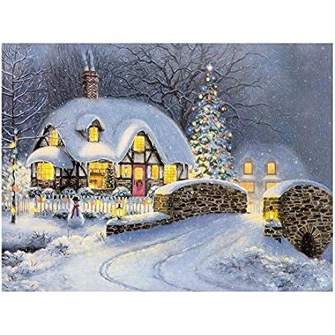 codinex (TM) # CU340* 30cm Natale notte neve 5d pittura diamante diy kit Craft pittura casa decorazione da parete Natale diamante croce