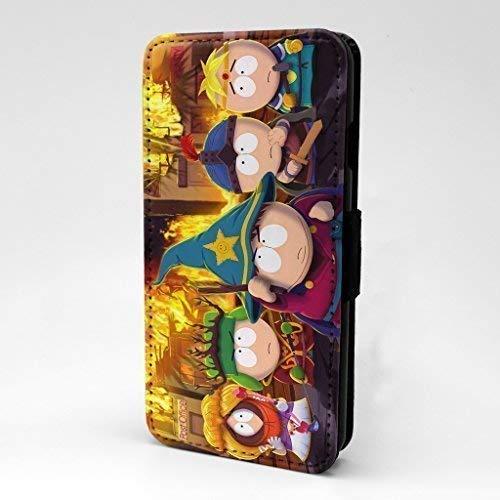 Accessories4Life Animierter Cartoon Bedruckte Vorne Kunstleder Blumenmuster Flip Case Hülle mit Kartenschlitze & Magnetisch Schließen Verschluss für Apple IPHONE 7 - South Park - S-T0188