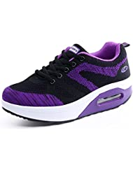 Zapatos De Mujer Zapatos Altos Zapatos Deportivos Transpirables Zapatos De Senderismo Zapatos De Corte , black purple , 40