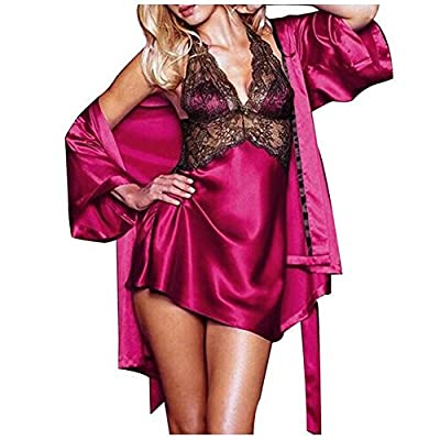 Dream Garden 2PCS Women Casual Underwear Lingerie Babydoll Sleepwear Nightgowns Mini Dress