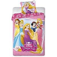 Faro Disney Princess Biancheria da letto per bambini 140x 200cm (Supera gli standard Oeko Tex 100) 001, Cotone, Multicolore, 200x 140cm.