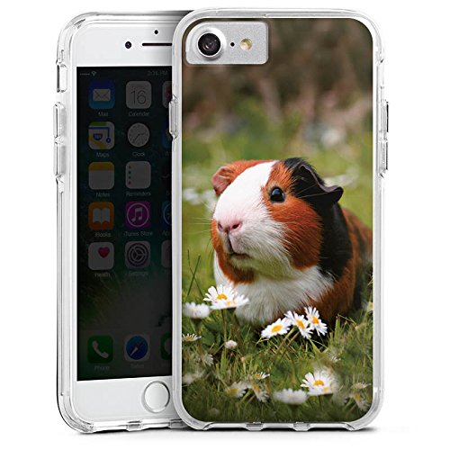 Apple iPhone 6s Bumper Hülle Bumper Case Glitzer Hülle Meerschwein Meerschweinchen Animals Bumper Case transparent