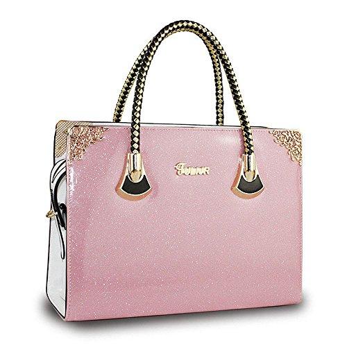 koson-man-femme-vintage-sacs-bandouliere-sac-a-poignee-superieure-sac-a-main-rose-rose-kmukhb247
