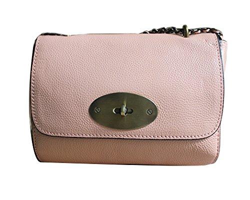 Genda 2Archer Damen Handtasche Mini Crossbody Tasche Schulter Chain Tasche Pink