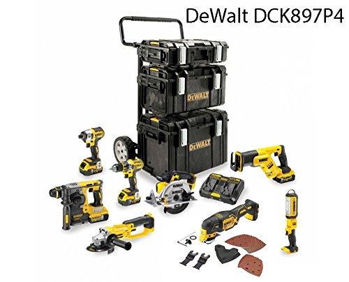 Preisvergleich Produktbild DEWALT DCK897P4 (DCS387 + DCS355 + DCH273 + DCD996 + DCS391 + DCG412 + DCL050 + DCF887 + DCB184 + DCB102 + 1-70-349)