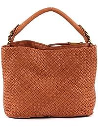 Marc O'Polo Woven Hobo Bag Large Cognac