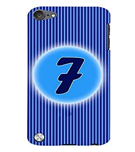 Fuson 3D Printed Numerology Designer back case cover for Apple iPod Touch 5 - D4224