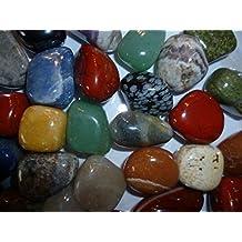 Edelsteine, Trommelsteine poliert, bunte Mischung, Größe ca. 2-3 cm, 500 g-Beutel
