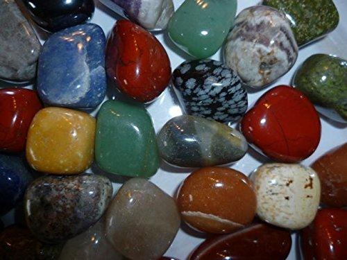 Edelsteine (500g) - hochwertiger Trommelsteinmix - bunte Mischung - 2-3cm große Steine - inkl. Infomaterial - von…