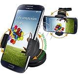 Original Dashborad support Samsung Galaxy S4S5S6S7S7Edge iPhone 4567Plus et tous les autres téléphones HTC Car support de pare-brise à ventouse Cradle Kit avec rotation à 360° Fonction