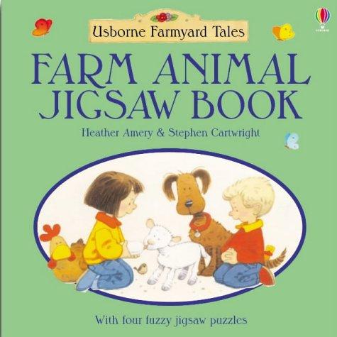 Farm animal jigsaw book