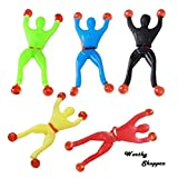 #10: Worthy Shoppee Sticky Toy Sticky Wall Climbing Spider-Man Toy - Set of 5