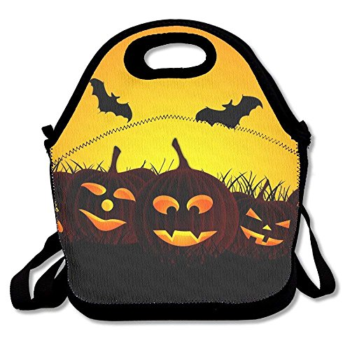 (Girls Boys Food Lunch Tote Cool HALLOWEEN DAY Picnic School Work Portable Reusable Handbag Bags Boxes Lunchbox Outdoor Totes)
