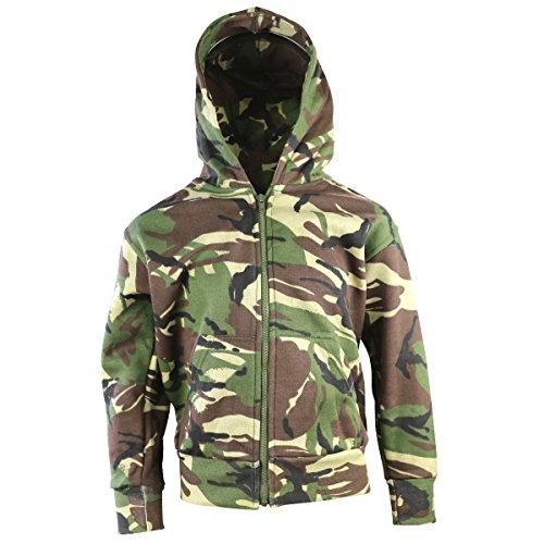 Camo Kinder-camouflage-t-shirt (Kombat UK Kinder Camo Hoodie, Kinder, Camo, DPM Camo, 7-8 Years)