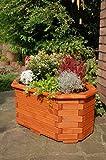 Deko-Shop-Hannusch Pflanzkasten, Blumenkasten, Blumenkübel aus Massivem Holz, für Den Garten, (Ohne Blumen)