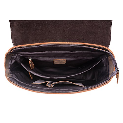 TOP-BAG , Sac pour homme à porter à l'épaule Marron Darkbrown grand Darkbrown