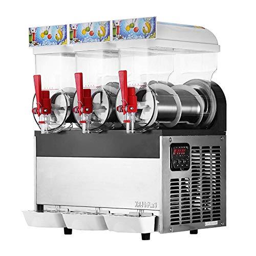 Anhon 2/3x15l Slusheis Maschine 500W/600W Slush Maker kommerziell Slush Ice Machine Slush Eismaschine Frozen Drink (SG30L)
