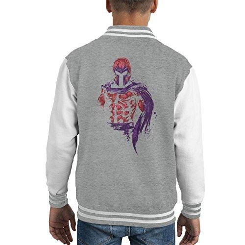 X Men Magnetic Warrior Magneto Kid's Varsity Jacket