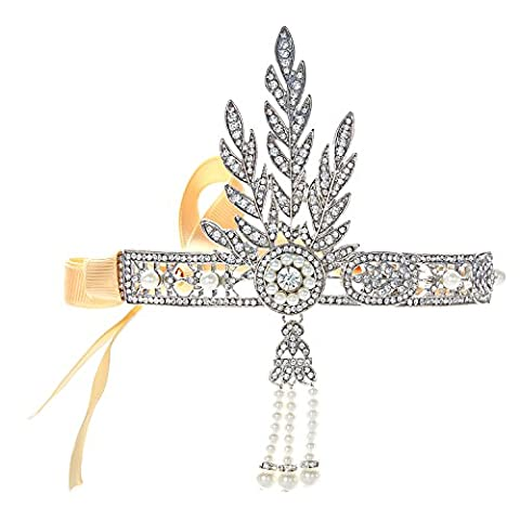 Flapper Robes Fille - Babeyond Bandeau Cristal Mariage Flapper Headband Tiara