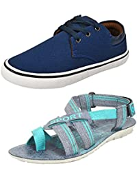 Bersache Men Combo Pack of 2 Casual Shoes with Sandals