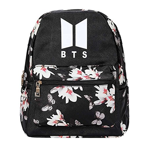 Coaste Antilane BTS Rucksack | KPOP BTS/GOT7/EXO/WANNA ONE/SEVENTEEN Oxford Schultasche Rucksack Daypack | Bangtan Jungen Fanartikel | Geschenk für The Army (Style 14) -