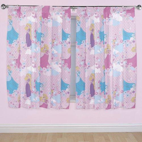 Disney 72 Inch Princess Dreams Curtains, Multi Colour