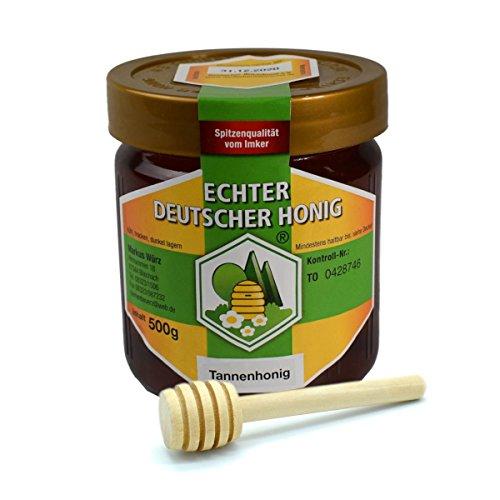 Echter Deutscher Honig | Tannenhonig | Hergestellt in Deutschland 500g