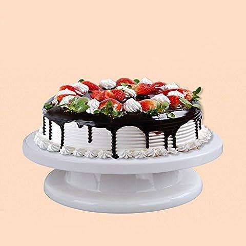 Lugii Cube gâteau Turntable Décoration DIY rotatif pour décoration de gâteaux tournante support de table