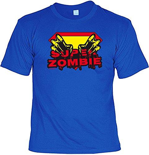 Perfekt (nicht nur) für Halloween! T-Shirt: - SUPERZOMBIE - Grusel Horror Geister Party Zombie Vampir Dead Fun - Blut-splatter-halloween-make-up