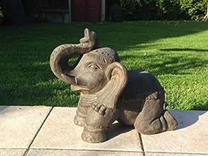 Statue Elephant maison/jardin 34Hcm décoration zen asie