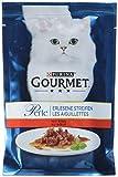 Gourmet Perle Katzenfutter Erlesene Streifen mit Rind, 24er Pack (24 x 85 g) Beutel