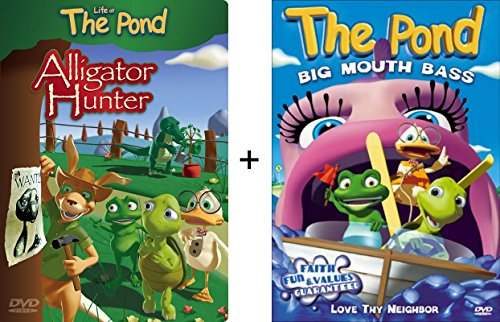 Alligator Pond (2 Pack DVD Bundle - Life At The Pond: Alligator Hunter & Big Mouth Bass - Stories About Loving Your Enemies and Neighbors - Faith, Fun, and Values Guaranteed)