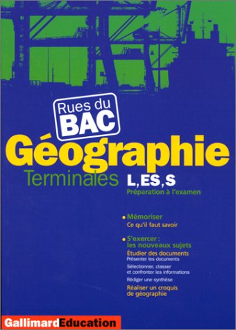 Géographie : Terminales L, ES, S