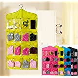 Absales Fabric Hanging Storage Bag with 16 Pockets (76 x 41 x 6 cm, Multicolour)