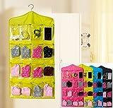 Absales 16 Pockets Clear Over Door Hanging Storage Bag Shoe Rack Hanger Storage Tidy Organize