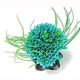 Bobury Ornamento di pianta Ornamentale di plastica di plastica Erba Verde per l'acquario di Pesce di Pesce