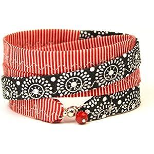 Armband rot schwarz