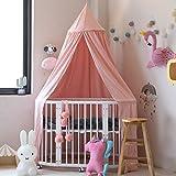 SevenD Baby Betthimmel Baldachin Baumwolle Rund Moskitonetz Insektenschutz Kinder Prinzessin Spielzelte Dekoration fürs Kinderzimmer (Rosa)