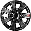Autostyle VR 16-Zoll Schwarz/Karbon-Look/Logo