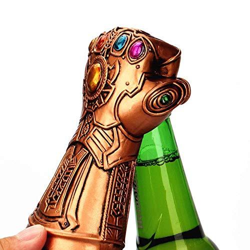 AOLVO Abridor de botellas de cerveza, Marvel Studios Infinity War Infinity Gauntlet Thanos Guante de cerveza botella de vino abridor, ideal para bar, fiesta, amantes de la cerveza, Marvel Fans