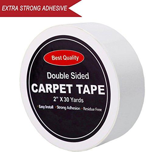 Cinta adhesiva de doble cara resistente antirizador para alfombras, pe