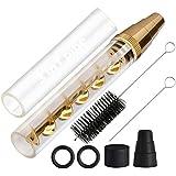 Lige cristal Blunt Blunt trenzado tubo Mini Kit de oro, tubo de vidrio nuevo Blunt para hierbas en seco papel de fumar, dorado