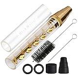 Lige Glas Blunt Rohr Mini Gold Kit, Twisted Blunt Glas Röhre Neue Blunt für trockene Kräuter Zigarette Papier