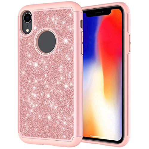 iPhone XR Handyhülle Glitzer Backcover Hülle - TPU Telefonkasten Anti-Rutsch Schutzhülle Anti-Kratzer Bling Handyschale Sparkle Schutz Haut Etui Tasche Soft Bumper Case