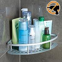 Wangel Estantería de Esquina para Baño Ducha, Pegamento Patentado + Autoadhesivo 3M, Aluminio, Estantes - mueblesdebanoprecios.eu - Comparador de precios