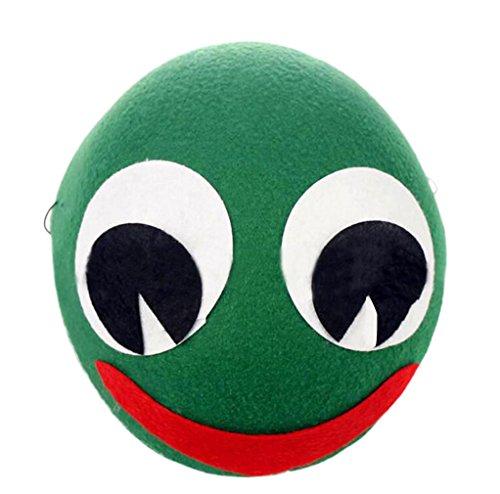 DEMU Cosplay Party Kopfbedeckung Karneval Fasching Halloween Mütze Unisex Tier Kostüm Hut Frosch