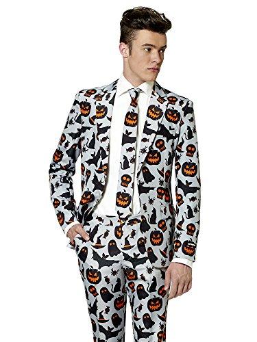 Suitmeister Halloween Anzüge für Herren - Mit Jackett, Hose und Krawatte - Grey Icons