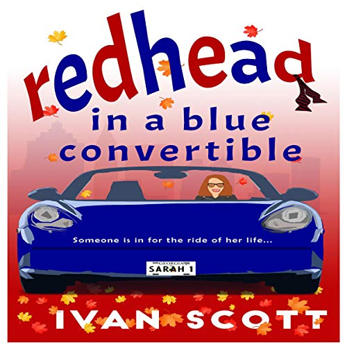 Redhead in a Blue Convertible