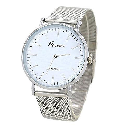 Genève classique montre à quartz montre-bracelet avec bande en maille